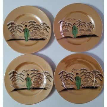 Talerz chińska porcelana SYGNOWANY talerze stara