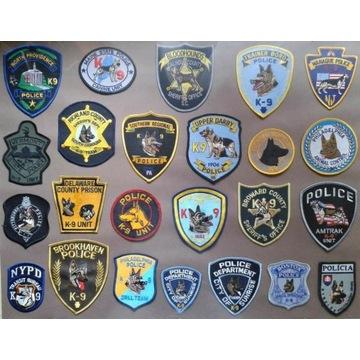 Emblematy, naszywki policyjne