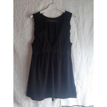 Koszulka nocna bawełna/wiskoza  czarna Zara, r.L