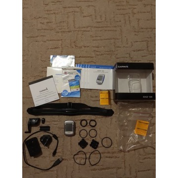 Garmin Edge 500 bundle pulsometr, czujnik kadencji