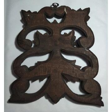DEKOR WIESZAK na klucze drewno oryginał  przedwoje
