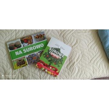 Nowe Dwie książki Surowe Zdrowie i Na Surowo