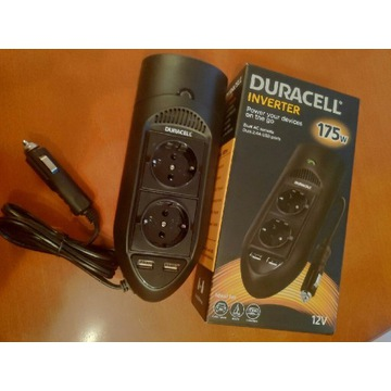 Duracell Przetwornica 12V 2x 230V + 2xUSB 2.4A