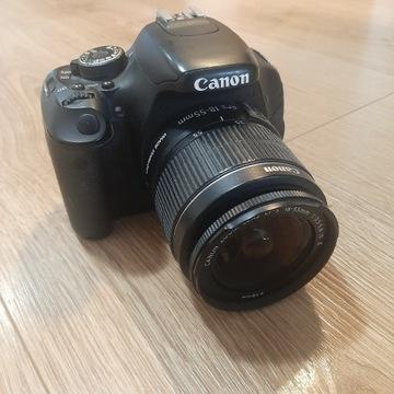 Aparat Canon EOS 600D + obiektyw 18-55mm