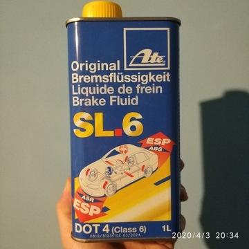 Płyn hamulcowy 1L ATE DOT4 SL6 03.9901-6402.2