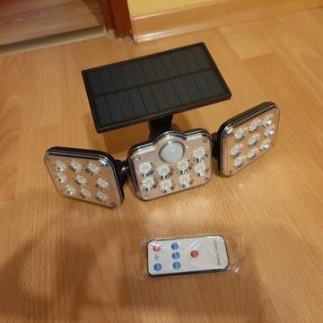 Lampa solarna 138 LED lekko zarysowana
