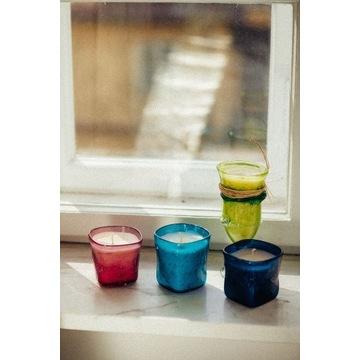 Świeca sojowa - szklanka wiele kolorów 300ml