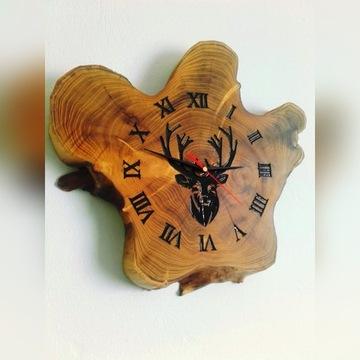 Zegar z plastra drewna, zegar drewniany, DIY