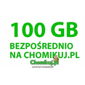 TRANSFER CHOMIKUJ 100 GB BEZTERMINOWO/BEZPOŚREDNIO