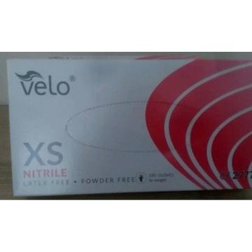 Rękawiczki jednorazowe nitrylowe XS 100szt