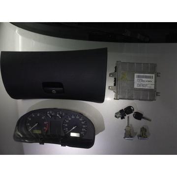 Zestaw Passat B5 1.6 adp - licznik, komputer,stac.