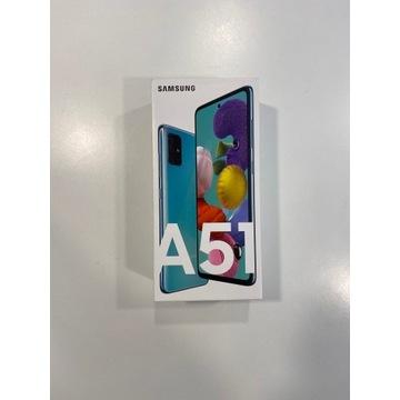 Samsung A51 4/128 GB - nowy, zaplombowany, BLUE