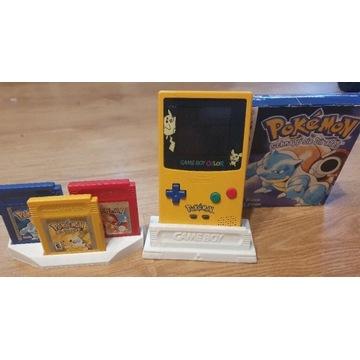Game Boy Color Pokemon + yellow + red + blue box.