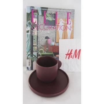 NOWE H&M HOME FILIŻANKA I TALERZ 2020 ELLE