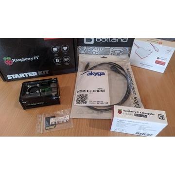 Zestaw Raspberry Pi 4B WiFi 4GB RAM + akcesoria, B