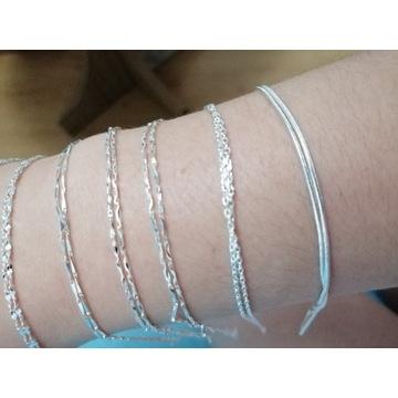 Łańcuszki 925s srebro
