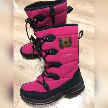 American buty zimowe śniegowce trapery 34