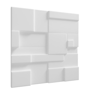Panele ścienne 3D Gipsowe Prostokąty