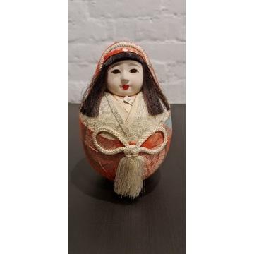 Stara lalka Japonia ręcznie malowana