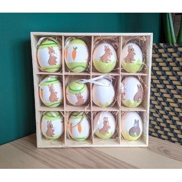 Dekoracyjne jajka wielkanocne, prawdziwe jajka