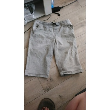 Bermudy dżinsowe jeansowe / dłuższe spodenki popie