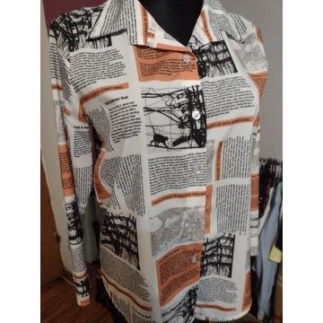 Koszula wzór gazeta