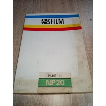 Filmy cięte ORWO NP20 PLANFILM 13x18 20szt HIT