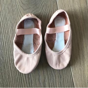 BALETKI SKÓRZANE buty do tańca różowe rozm.23