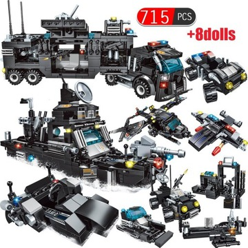 Klocki City 11w1 kompatybilne z LEGO, 715 klocków