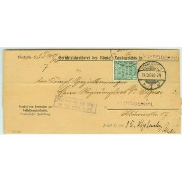 PIŁA LIST Z SĄDU W PILE z 1904 r