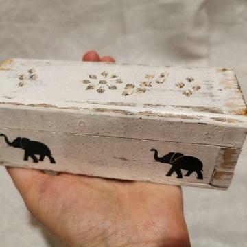 Małe pudełko szkatułka na kadzidełka stożkowe OUTL