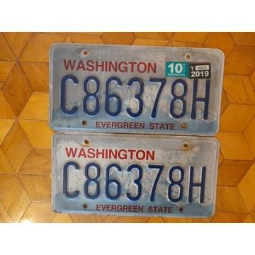 Washington ara tablic rejestracyjnych usa oryginal