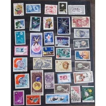 kosmos - mix znaczków