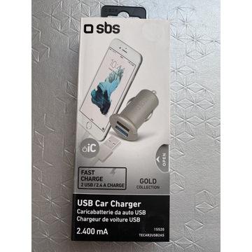 Ładowarka samochodowa 2 USB 2.4 A marki SBS