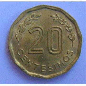 20 centesimos Urugwaj 1981