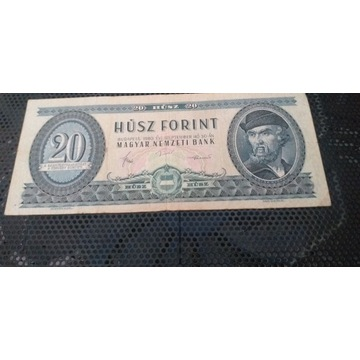 Banknot 20 Forintów WEGRY 1980