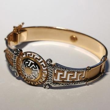Piękna bransoletka 18cm p585 różowe białe złoto