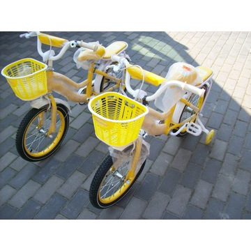 Rowerek 16 cali żółty rower dla dziecka od 4 lat