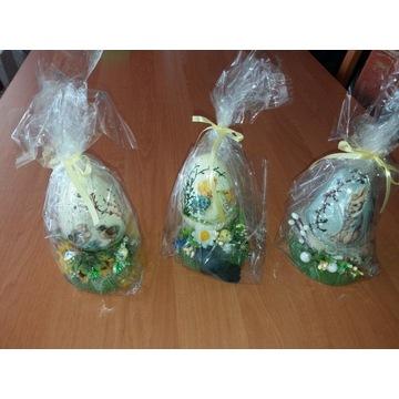 świąteczne jajka - stroik ozdoba