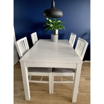 Stół rozkładany do jadalni z 4 krzesłami Ikea