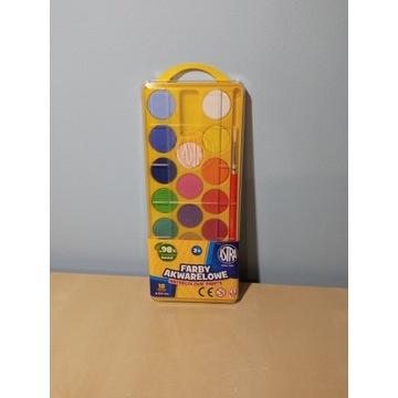 Farby akwarelowe z pędzelkiem 18 kolorów Astra