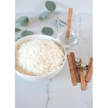 wosk sojowy 1kg+knot drewniany x10-zestaw do świec