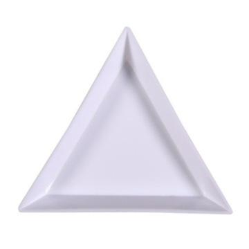 Trójkątna tacka na ozdoby – Biała