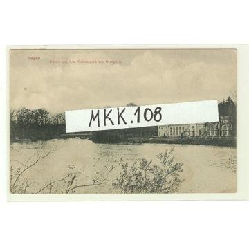 ŻAGAŃ - SAGAN - SCHLOSSPARK 1910 r. RZADKA !!! RRR