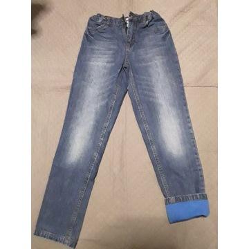 Spodnie dżinsowe jeans ocieplane 146 John Baner