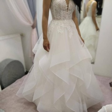 Suknia ślubna, La Lucienne, Rozmiar 34, Ecru
