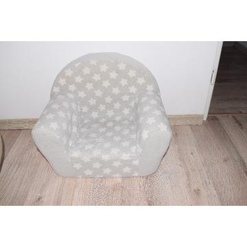 Fotelik fotel pankowy dla dzieci szary, pufa