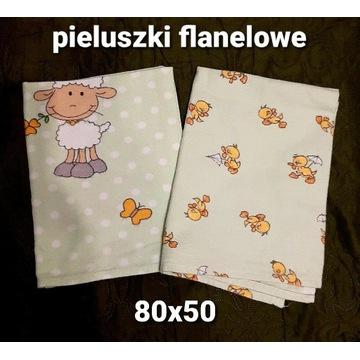 Pieluszki flanelowe zestaw 2szt. 50x80