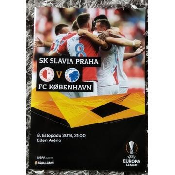 Program meczowy Slavia Praga FC Kopenhaga LE 2018
