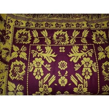 Wełniana tkana narzuta dywan kapa 220 x150